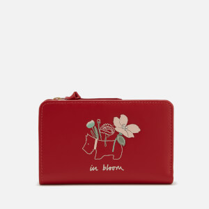 Radley Women's In Bloom Medium Zip Top Purse - Claret