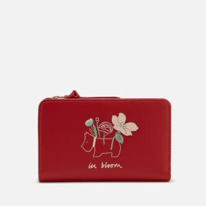 Radley Women's In Bloom Medium Zip Top Purse - Claret