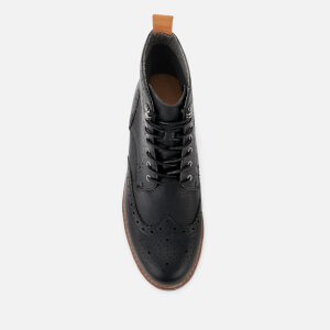 Clarks Men's Batcombe Lord Leather Brogue Lace Up Boots - Black: Image 3