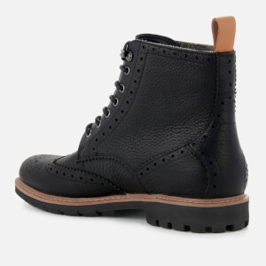 Clarks Men's Batcombe Lord Leather Brogue Lace Up Boots - Black: Image 2