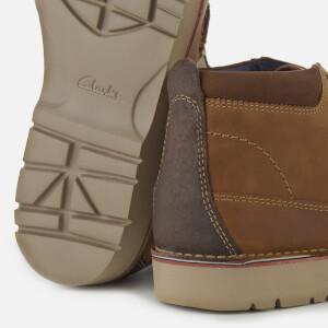 Clarks Men's Vargo Mid Leather Chukka Boots - Dark Tan: Image 4