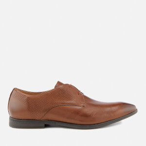 Clarks Men's Bampton Walk Leather Derby Shoes - British Tan