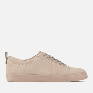 Clarks Women's Glove Echo Suede Low Top Trainers - Nude Pink