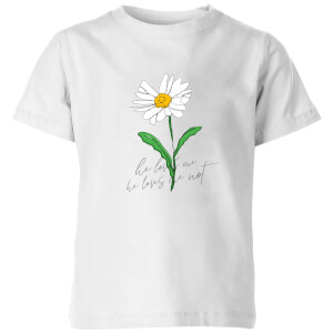 My Little Rascal He Loves Me, He Loves Me Not Kids' T-Shirt - White