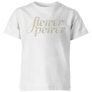 My Little Rascal Flower Power Kids' T-Shirt - White