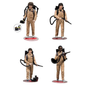Pack de 4 Figurines Deluxe Stranger Things Ghostbusters