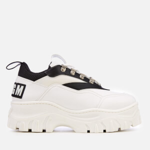 MSGM Women's Chunky Runner Style Trainers - White/Black