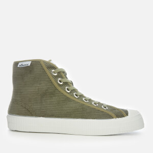 Novesta Men's Star Dribble Cord Hi-Top Trainers - Military/White