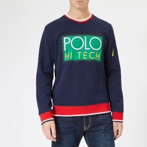 Polo Ralph Lauren Men's Double Knit Crew Neck Sweatshirt - Blue/Red/Green