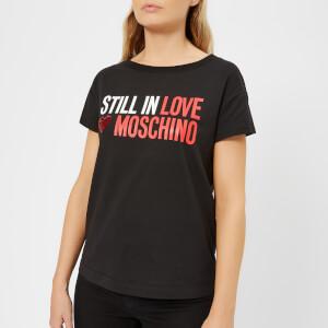 Love Moschino Women's Still in Love T-Shirt - Black