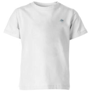My Little Rascal Grey Elephant Emblem Kids' T-Shirt - White