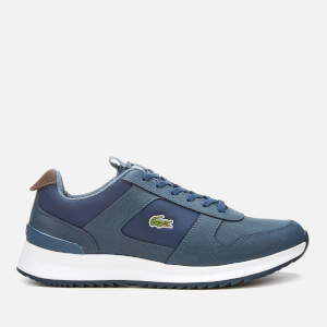 Lacoste Men's Joggeur 2.0 318 1 Textile/Leather Runner Style Trainers - Navy/Dark Blue