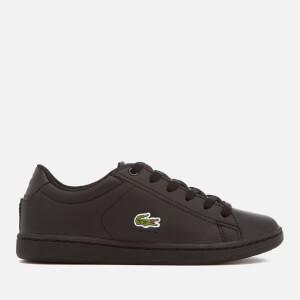 Lacoste Kids' Carnaby Evo 118 4 Trainers - Black/Black