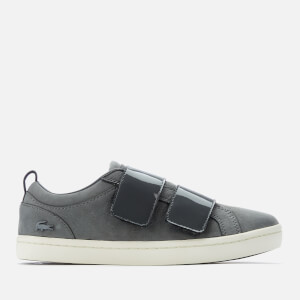 Lacoste Women's Straightset Strap 318 1 Nubuck Trainers - Dark Grey/Off White