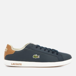 Lacoste Men's Graduate Lcr3 118 1 Leather Trainers - Navy/Light Brown
