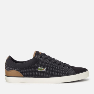 Lacoste Men's Lerond 318 1 Textile Trainers - Black/Tan
