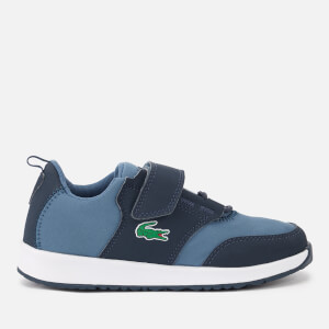Lacoste Kid's Light 318 1 Textile Runner Style Trainers - Navy/Dark Blue