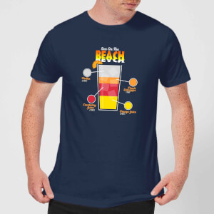 Infographic Sex On The Beach Men's T-Shirt - Navy
