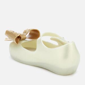 Mini Melissa Toddlers' Ultragirl Fairy Bow Ballet Flats - Pearl: Image 2