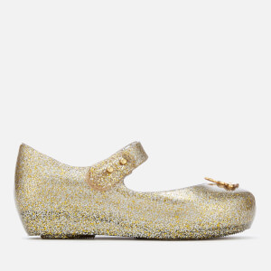 Mini Melissa for Vivienne Westwood Toddlers' Ultragirl 20 Ballet Flats - Gold Glitter Orb