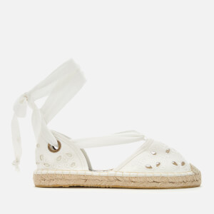 Superdry Women's Lola Lace Up Espadrilles - Off White