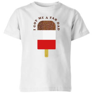 My Little Rascal I Got Me A Fab Dad Kids' T-Shirt - White