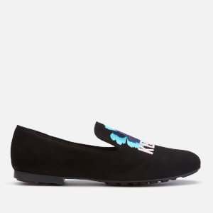 KENZO Women's Custer Embroidered Loafers - Black