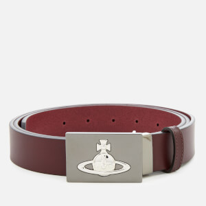 Vivienne Westwood Men's Square Buckle Belt - Burgundy