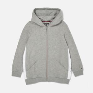 Tommy Hilfiger Girl's Brand Logo Zip Hoodie - Grey