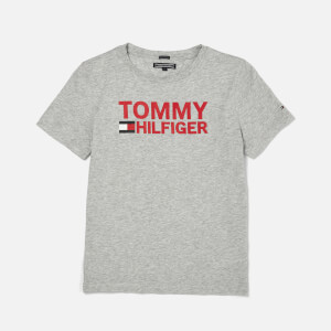 Tommy Hilfiger Boy's Essential Graphic T-Shirt - Light Grey Heather