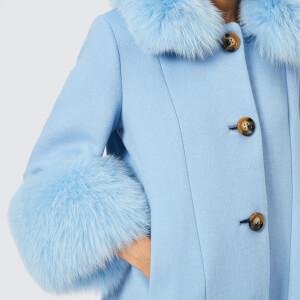 Saks Potts Women's Yvonne Sky Blue Coat - Blue: Image 4