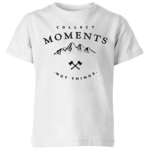Collect Moments, Not Things Kids' T-Shirt - White