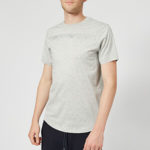 Emporio Armani Men's Eagle Collar Logo T-Shirt - Grey