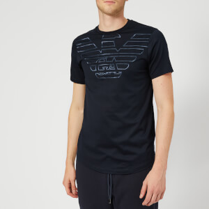Emporio Armani Men's Word Logo T-Shirt - Navy