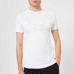 Emporio Armani Men's Outline Logo T-Shirt - Bianco