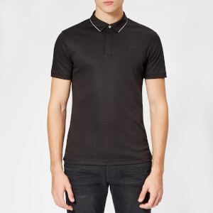 Emporio Armani Men's Mercerised Polo Shirt - Nero