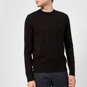 Emporio Armani Men's Basic Crew Neck Sweater - Black