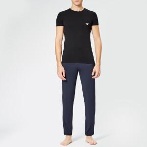 Emporio Armani Men's Small Logo Crew Neck T-Shirt - Black: Image 3