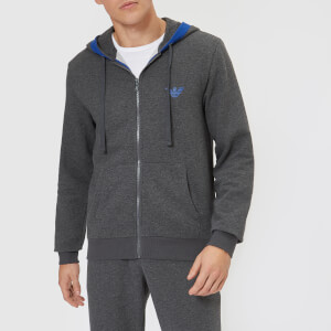Emporio Armani Men's Zipped Hoodie - Grey