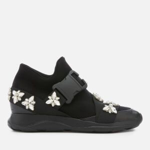 Christopher Kane Women's High Top Trainers with Crystals - Black