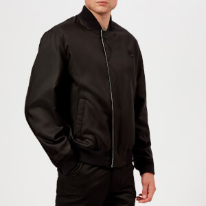 KENZO Men's Reversible Check Bomber Jacket - Black