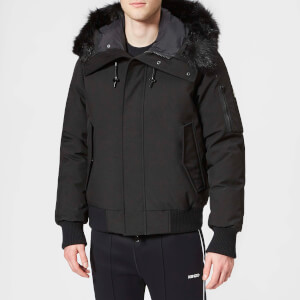 KENZO Men's Faux Fur Bomber Jacket - Black