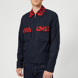 KENZO Men's Leopard Trim Jacket - Navy Blue