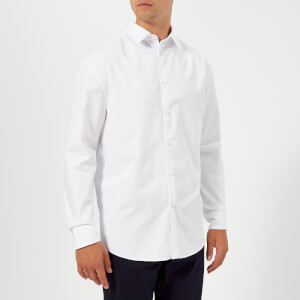 KENZO Men's Reverse Logo Oversize Long Sleeve Shirt - White