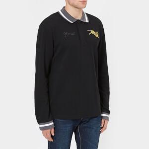 KENZO Men's Tiger Long Sleeve Polo Shirt - Black