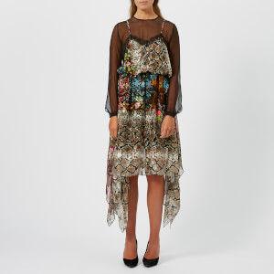 Preen By Thornton Bregazzi Women's Satin Devore Fredi Dress - Floral Snake