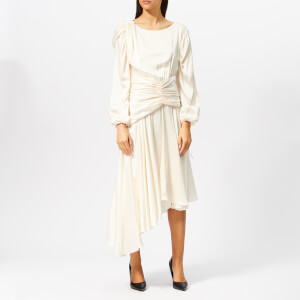 Preen By Thornton Bregazzi Women's Sandwash Satin Amber Dress - Ivory
