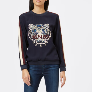 KENZO Women's Crepe Back Satin Tiger Jumper - Navy Blue