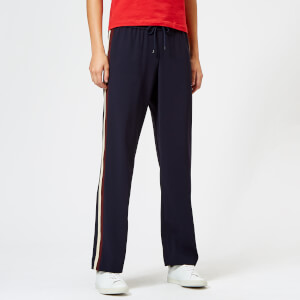 KENZO Women's Crepe Back Satin Trousers - Navy Blue