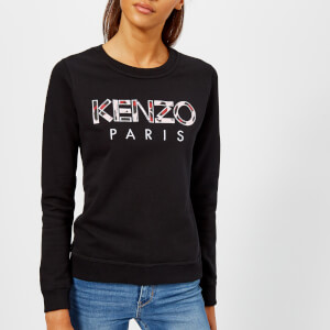 KENZO Women's Light Cotton Molleton Logo Sweatshirt - Black